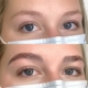 My brow lamination before and after